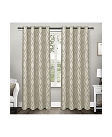 Exclusive Home Easton Jacquard Blackout Grommet Top Curtain Panel Pair