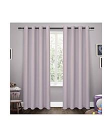 Sateen Twill Woven Blackout Grommet Top Curtain Panel Pair