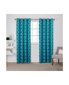 Exclusive Home Cartago Insulated Woven Blackout Grommet Top Curtain Panel Pair