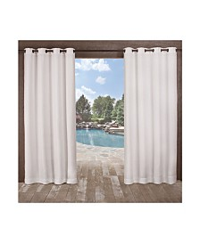 Exclusive Home Delano Heavyweight Textured Indoor Outdoor Grommet Top Curtain Panel Pair