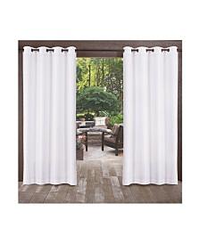 Exclusive Home Biscayne Indoor Outdoor Two Tone Textured Grommet Top Curtain Panel Pair