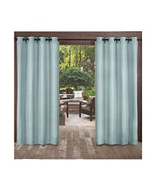 Exclusive Home Biscayne Indoor Outdoor Two Tone Textured Grommet Top Curtain Panel Pair