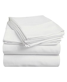 400 Thread Count Premium Combed Cotton Solid Sheet Set - Twin