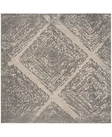 """Meadow Taupe 6'7"""" x 6'7"""" Square Area Rug"""