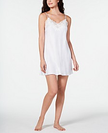 Caterina Lace-Trim Printed Chemise Nightgown