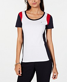 Colorblocked Cotton T-Shirt, Created for Macy's