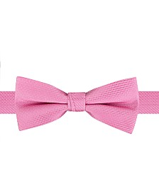 Tommy Hilfiger Toddler & Little Boys Textured Pink Pre-Tied Silk Bow Tie