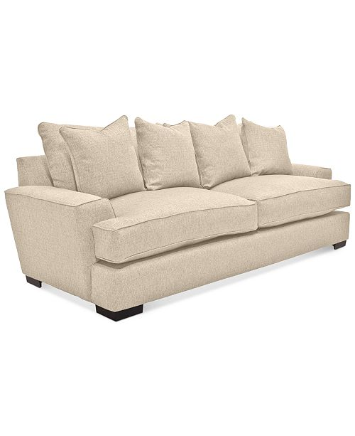 "Furniture Ainsley 101"" Fabric Sofa with 4 Toss Pillows, Created for Macy's"