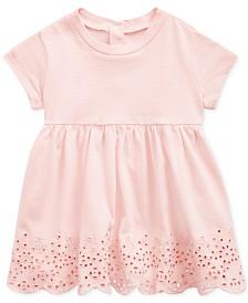 Polo Ralph Lauren Baby Girls Scalloped Eyelet Cotton T-shirt