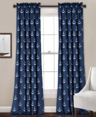 """Anchor Room Darkening Window Curtain Set, 52""""x84"""""""