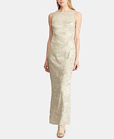 Lauren Ralph Lauren Metallic Jacquard Dress