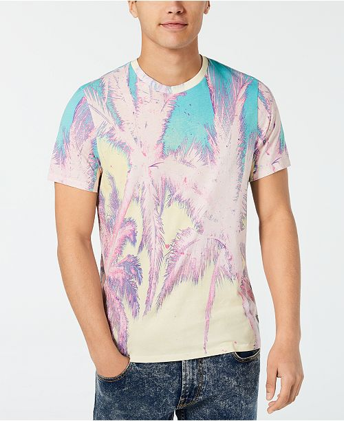 GUESS Men's Solarized Palms Graphic T-Shirt