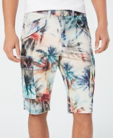 GUESS Men's Carter Twill Palm Shorts