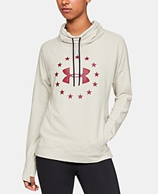 Graphic Funnel-Neck Hoodie