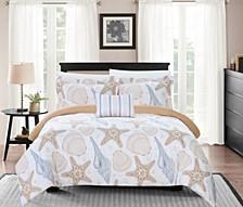 Azure 8 Piece King Bed In a Bag Duvet Set