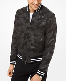 Michael Kors Men's Camo Bomber Jacket, Created for Macy's
