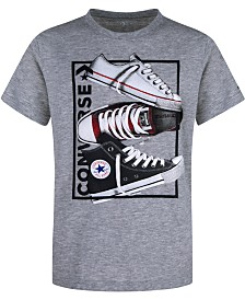 Converse Big Boys Stacked Rectangle Logo T-Shirt