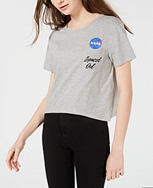 Juniors' NASA Graphic Pocket T-Shirt