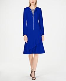 Calvin Klein Petite Zip-Front Jacket
