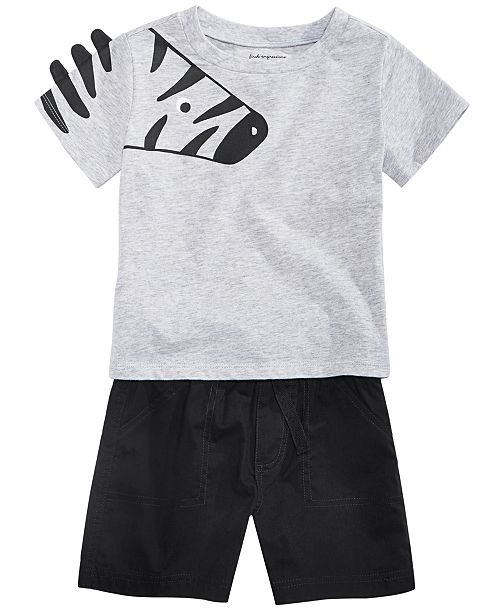 First Impressions Toddler Boys Zoo Graphic T-Shirts & Shorts Separates, Created for Macy's