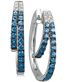 Blueberry Layer Cake Blueberry Sapphires (1-1/6 ct. t.w.) & Vanilla Sapphires (1/5 ct. t.w.) Earrings in 14k White Gold