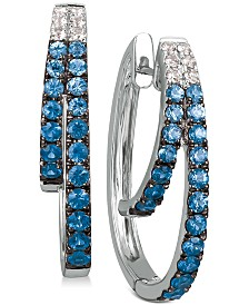 Le Vian® Blueberry Layer Cake Blueberry Sapphires (1-1/6 ct. t.w.) & Vanilla Sapphires (1/5 ct. t.w.) Earrings in 14k White Gold