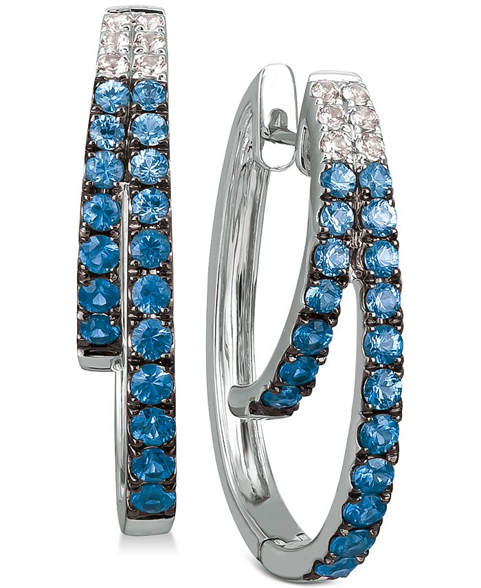 Le Vian - Blueberry Layer Cake Blueberry Sapphires (1-1/6 ct. t.w.) & Vanilla Sapphires (1/5 ct. t.w.) Earrings in 14k White Gold