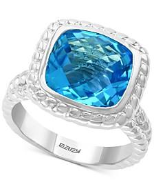 EFFY® Blue Topaz (6-3/8 ct.t.w.) Ring in Sterling Silver