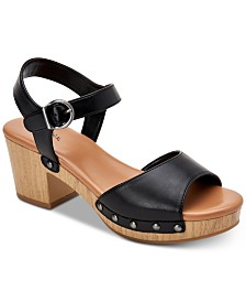 Style & Co Anddreas Platform Block-Heel Sandals, Created for Macy's