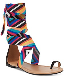 I.N.C. Medria Toe-Thong Tie-Up Flat Sandals, Created for Macy's