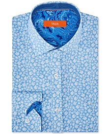 Tallia Men's Slim-Fit Floral Graphic Shirt