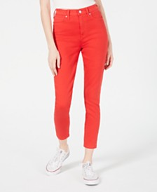 Celebrity Pink Juniors' High-Rise Colored Skinny Ankle Jeans