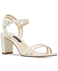 Piper Two-Piece Block-Heel Sandals