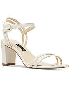 Nine West Piper Two-Piece Block-Heel Sandals