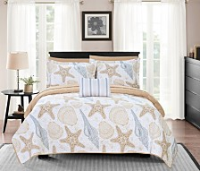 Chic Home Maritime 8 Piece King Bed in a Bag Quilt Set
