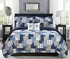 Eliana 6 Piece Twin X-Long Bed in a Bag Quilt Set