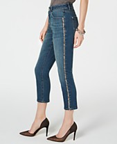 94c11a101c168f I.N.C. Sparkle Side-Seam Skinny Cropped Jeans, Created for Macy's