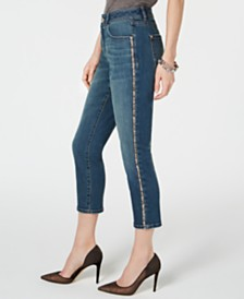 I.N.C. Sparkle-Seam Cropped Curvy-Fit Jeans, Created for Macy's