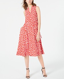 Anne Klein Printed Midi Dress