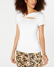 Thalia Sodi Cutout O-Ring Top, Created for Macy's