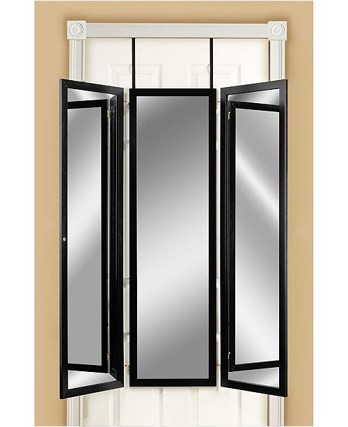 Mirrotek Over The Door Wall Mounted Triple View 3 Way Dressing Mirror