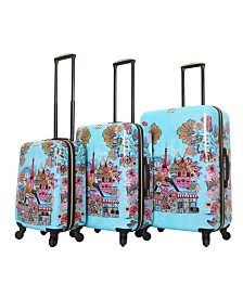 Halina Car Pintos Ohalina La La 3 Piece Hard Side Spinner Luggage Set