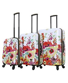 Halina Collier Campbell Secret Garden 3 Piece Hard Side Spinner Luggage Set