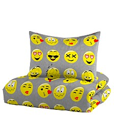 Dream Factory Emoji Twin Comforter Set