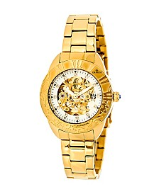 Empress Godiva Automatic Gold Stainless Steel Watch 38mm