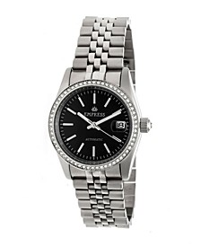 Constance Automatic, Silver Case, Black Dial, Silver Stainless Steel Watch 37mm