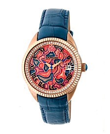 Empress Helena Automatic Blue Leather Watch 36mm