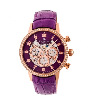 Beatrice Automatic Purple Leather Watch 38mm