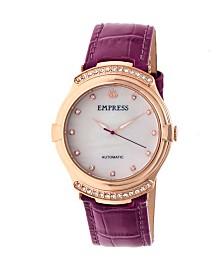 Empress Francesca Automatic Fuchsia Leather Watch 35mm