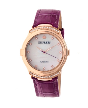 Francesca Automatic Fuchsia Leather Watch 35mm